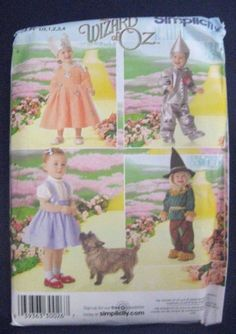 Simplicity 4024 Toddler 4 Wizard of OZ Costume Sewing Patterns size 1/2-4 Size A #Simplicity