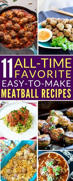 These all time favorite meatball recipes are easy to make and yummy, too. You can never go wrong with these easy dinner recipes for family or appetizer recipes. dinner recipes crockpot | crockpot recipes | italian meatball easy | crockpot meatball recipes | beef recipes | easy appetizer make ahead. #meatballrecipes #easydinnerrecipes #saucyrecipes