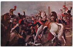 Napoleon wounded at Ratisbone April 25, 1809.