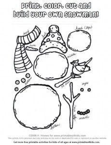 Printable Build a Snowman Activity