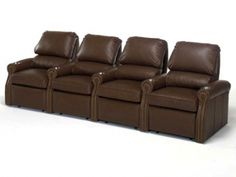 Leather Theater Seating in custom sizes to fit your space