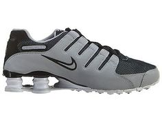 Nike Shox NZ SE Mens 833579-001 Wolf Grey Black Athletic Running Shoes Size  8
