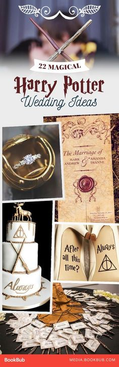 What could be more magical than a Harry Potter wedding? These charming ideas are swoon-worthy!