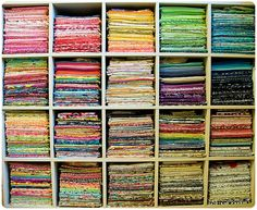 New fabric storage solution by Sewing Under Rainbow, via Flickr