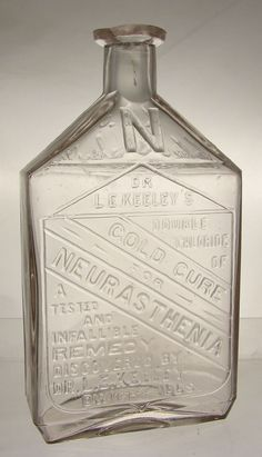 """DR L.E. KEELEY'S GOLD CURE FOR NEURASTHENIA. 6"""" Dr. Keeley had his hand in numerous cures and remedies -"""