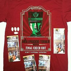 "NEW ""DISNEYLAND CALIFORNIA ADVENTURE HOLLYWOOD TOWER OF TERROR"" ""FINAL CHECK-OUT COLLECTOR'S SHIRT""...............  THIS ""LIMITED EDITION"" SHIRT IS FOR FINAL DAYS OF GREAT ATTRACTION ""CLOSING SOON"" (PLEASE CLICK-ON THE PICTURE FOR MORE DETAILS and PICS)  #Disneyland #TwilightZone #HollywoodTowerOfTerror"