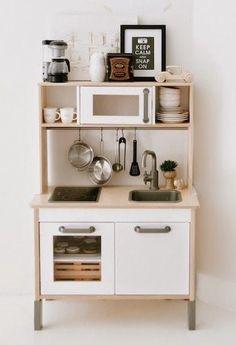 Ikea Kitchen Diy, Diy Play Kitchen, Mini Kitchen, Play Kitchens, Toddler Boy Room Decor, Toddler Playroom, Boys Room Decor, Kids Bedroom, Ikea Duktig