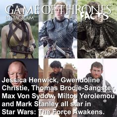 Game Of Thrones Facts, Game Of Thrones Quotes, Game Of Thrones Funny, Game Of Thrones Wallpaper, Jessica Henwick, Instagram Facts, Rory Mccann, Max Von Sydow, Game Of Trones