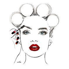 Fashion Poster Beauty Salon Decor Fashion by worksbyannahammer