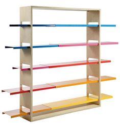 Libreria Sunset / L 163 x H 200 cm, Legno chiaro / Mensole multicolori di RS BARCELONA