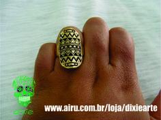 Anel Étnico   www.airu.com.br/loja/dixiearte