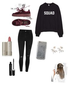 A fashion look from December 2016 featuring crew neck shirts, denim jeans and burgundy shoes. Browse and shop related looks. River Island, Marc Jacobs, Polyvore, Stuff To Buy, Shopping, Collection, Design, Women, Fashion