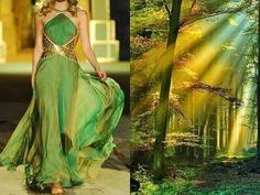 paralelismos entre impresionantes vestidos de diseño y el impresionante paisaje