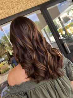 Experience the ambiance of G Studio Salon in Ramsey, New Jersey. Brown Hair Balayage, Hair Color Balayage, Hair Highlights, Ombre Hair, Rich Brown Hair, Lavender Hair Colors, Hair Flip, Aesthetic Hair, Hair Hacks