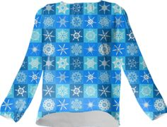 Checkered Snowflakes Silk Top - Available Here: http://printallover.me/products/0000000p-checkered-snowflakes-10