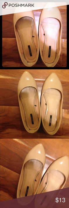 Nude colored flats 1