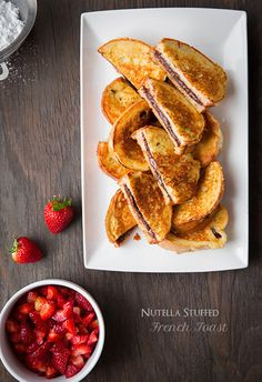 Nutella Stuffed French Toast with Macerated Str...