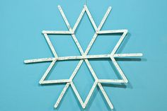 Popsicle Stick Snowflakes main How to Make Over Sized Popsicle Stick Snowflakes