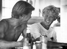 """Jan Michael Vincent & William Katt in """"Big Wednesday"""" playing So. California Surfers back in the day."""