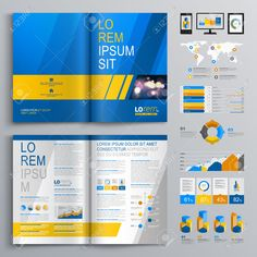 blue and yellow brochure - Google Search