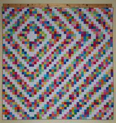 Custom Queen 30s Barn Raising Quilt by Myra Barnes of Busy Hands Quilts