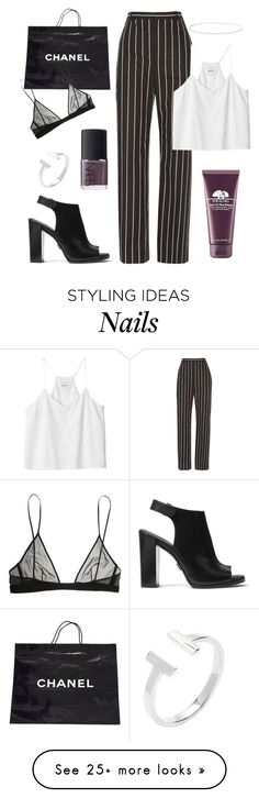 """Untitled #39"" by kell-a on Polyvore featuring Michael Kors, NARS Cosmetics, Origins, Chanel, Balenciaga, Anne Sisteron, Monki and Yves Saint Laurent"