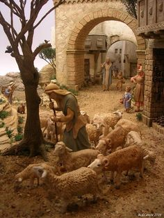 1 million+ Stunning Free Images to Use Anywhere Christmas Nativity Scene, Christmas Makes, Vintage Christmas, Miniature Crafts, Miniature Houses, Art Painting Images, Architectural Sculpture, Free To Use Images, Winter Painting