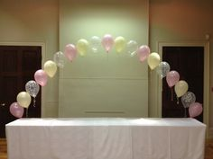String of Pearls Balloon arch by missymooballoons