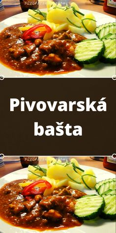 Czech Recipes, Ethnic Recipes, Bastilla, Kung Pao Chicken, Chili, Pork, Food And Drink, Beef, Red Peppers