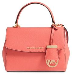 If I ever win the lottery I am going to buy one of every Michael Kors bag in PINK. MICHAEL Michael Kors 'Extra Small Ava' Leather Crossbody Bag - Pink {affiliate link}.