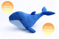 Humpback Whale Plush Pattern (Available Now!) by PlanetPlush on DeviantArt Fabric Toys, Minky Fabric, Fabric Scraps, Plush Pattern, Free Pattern, Pdf Sewing Patterns, Fabric Patterns, Whale Plush, Humpback Whale