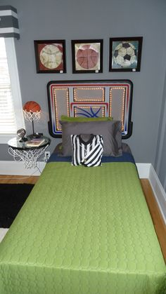 Basketball themed bedroom