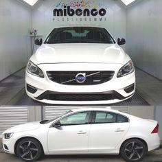 Volvo S60 gedippt mit mibenco Flüssiggummi SPRÜHFERTIG,  weiß glänzend + transparent mit Perleffekt Pigment und AutoSprühFolie HighGlossFinish
