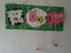 Houten boerderij dieren kunstwerk!