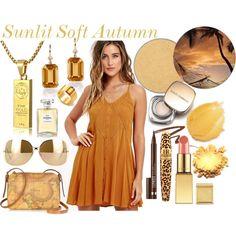 Sunlit Soft Autumn by prettyyourworld on Polyvore featuring beauty, Anastasia Beverly Hills, AERIN, Dolce&Gabbana, Clinique, Anna Sui, Chanel, Victoria Beckham, Goshwara and Gucci