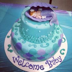 this was my cake for my baby shower under the sea baby shower cake