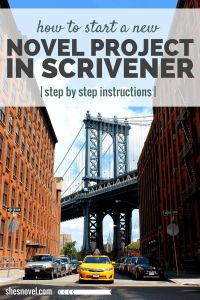 How to Start a New Novel Project in Scrivener via ShesNovel.com