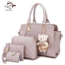 4 Stück / Set-Frauen-Beutel-Krokodil-Muster-Composite-Taschen Weinlese-Frauen-Kurier-Beutel-Schulter-Handtasche Mappen-Leder-Handtaschen (China (Festland))
