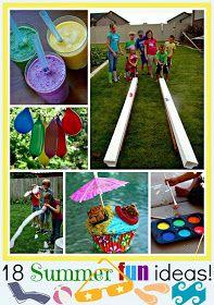 18 Summer Fun Ideas www.craft-o-maniac.com