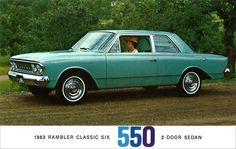 1963 AMC Rambler Classic Six postcard.