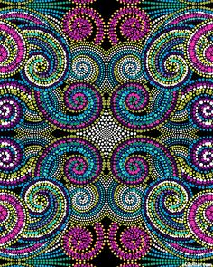Pattern - Palindromes - Totem - Taffy Pink