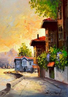 GANYAN & IS – The pearl beads of art – God creates from the inside: Mustafa G … - Art Painting Beautiful Paintings Of Nature, Great Paintings, Nature Paintings, Beautiful Artwork, Watercolor Paintings, Oil Painting Pictures, Pictures To Paint, Renaissance Kunst, Landscape Artwork