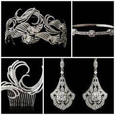 Art Deco swirls www.vintagebridaljewellery.co.uk Swirls, Wedding Accessories, Art Deco, Vintage, Wedding Props, Vintage Comics, Primitive