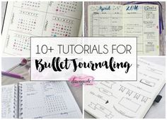10+ Bullet Journal Tutorials. Are you into Bullet Journaling already? Not sure exactly what it is? Check out this post for some awesome ideas!