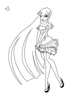 winx club christmas coloring pages | Princess Coloring Pages | Princess coloring pages, Disney ...
