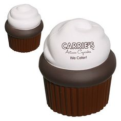 Promotional Cupcake Stress Reliever | Customized Cupcake Stress Reliever | Promotional Stress Relievers