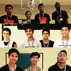 Winning teams from the 2015 SWISH 3on3 basketball tournament