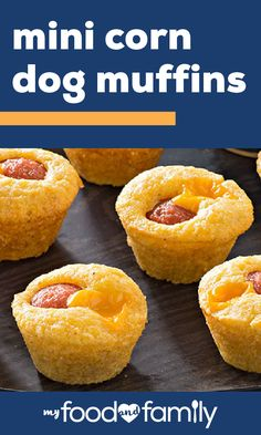 Mini Corn Dog Muffins – In under 30 minutes, you can serve up these savory corn dog bites! Corn muffin mix, VELVEETA®, OSCAR MAYER Beef Franks, and honey mustard are all you'll need to whip up this recipe for your next party.