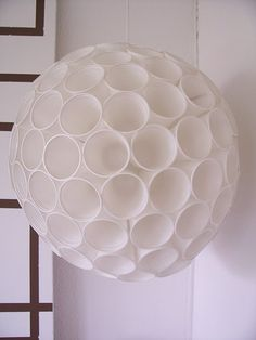 Lamp made out of plasticcups. Lovely :)