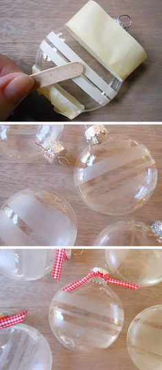 Glass etching can add an artistic touch to regular glassware and make it look fancy. Whether it's a drink glass, a vase or even a door, glass etching can turn anything glass into a piece of art easily. You only need your imagination and an itching cream. Homemade Christmas, Diy Christmas Gifts, Christmas Ideas, Christmas Recipes, Christmas Decorations, Foto Transfer, Glass Engraving, Christmas Ornament Crafts, Cricut